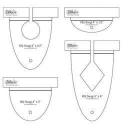 H4 swag tempate in een set van 4 rulers