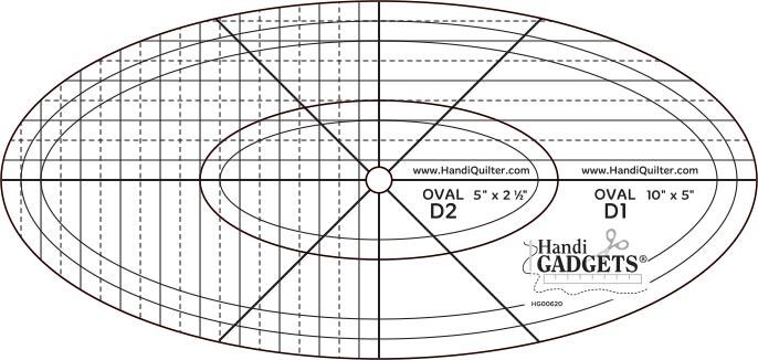 Oval D ruler